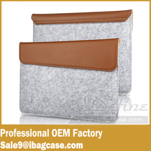 The Hybrid Style Wool Felt Carrying Laptop Bag