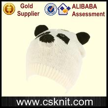 China supplier striped knitted long beanie hats / cotton ball beanie hat