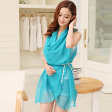 Good Quality Pure Color 100% Silk Scarf For Women