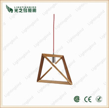 China professional wooden windbell pendant lighting supplier in zhongshan wood lamp factory