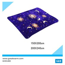Sun Moon Stars Medium Weight royal Mink Blanket