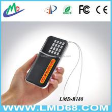 Portable am fm radio mini speaker LMD-B188AM