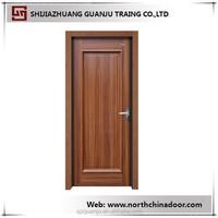 Single Leaf Wood Veneer Skin MDF Compressed Wooden Door