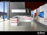 White Lacquer MDF Kitchen Cabinet