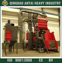 Shot blast machine track/crawler metal belt cleaning equipment