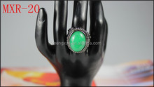 Wholesale best sale fashion Emerald jewelry clear cubic zirconia rings