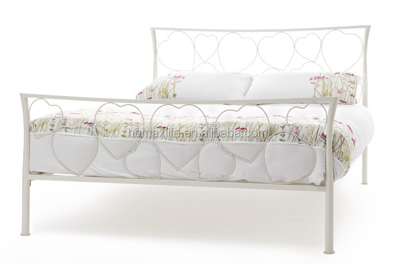 Latest style wrought double cot bed designs from factory for Latest double cot designs