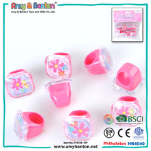 Fashion party supply artificial king and queen finger rings for girls