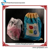 Degradable PE Drawstring Laundry bag