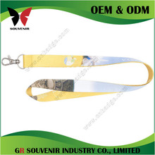 Hot sales custom polyester promotional silkscreen printed lanyard