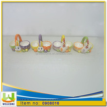 Ceramic Easter Decoration Chicken & Rabbit Egg Cup 2 Mods Assorted cm. 12 x 7 x h. cm. 9 in 4 colors