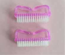 Plastic Handle Nail Art Dust Cleaning Brush After Manicure Pedicure Files Tool