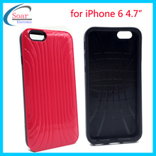 PC+silicone hard back defend shell cover case for iPhone 6