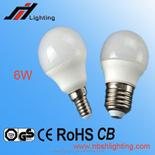 CE ROHS Factory sale G45 3W 4W 5W 6W E27 E14 LED BULB LAMP