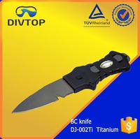 Titanium Blade Sharp Double Edged BC Professional Military Survival Diving Knife