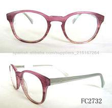 2013 vintage frame gafas de color suave, redondo Eyeshape