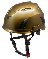 2015 Newest Gold industrial work safety helmet with harness, construction worker helmet with CE EN397