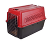 Pet Carrier airline approved pet dog crate with wheels plastic travel dog kennel crate