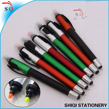 3 in 1 highlghter ball pen touch screen stylus pen