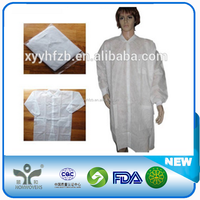High Quality Disposable Non Woven Lab Coat,/Cheap Disposable Lab Coat/disposable pp non woven lab clothes