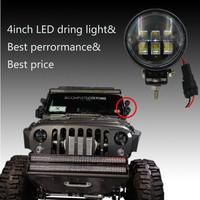 Hot! Jeep wrangler Jk accessories 4 inch 30W working light driving light