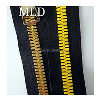 No.10 big teeth plastic zipper gold teeth C/E resin zipper with slider accessory