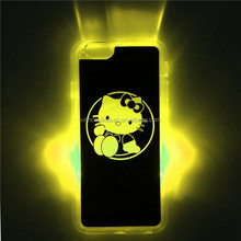 For IPhone 6/6 Plus Colorfull Night Light PC Case Cover