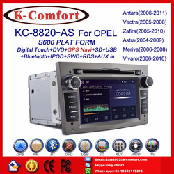 K-Comfort factory supply opel car dvd gps 2 din with GPS + SWC + Radio + RDS BT+ SD + USB CD/DVD IPOD Aux-in