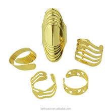 Punk Rock Style Gpld Plated Women Ring Set