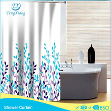 Color Leaf Fabric Shower Curtain 100%Polyester