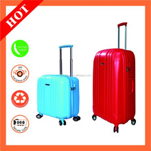 China Foshan Factory 2015 fashion school trolley bags/beauty case trolley for women 3 piece luggage set/hard case with 4 wheels