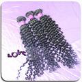 Final de la buena calidad de mano brasileña completa extensión del pelo rizado rodado