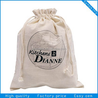 White Cheap Cotton Drawstring Bag And Drawstring Shoe Bag