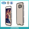 3 in 1 mobile phone case electroplating hard clear back cover for samsung galaxy S6