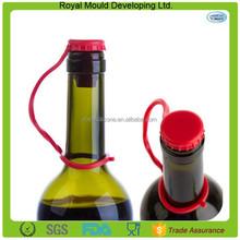 Cheap wholesale anti-lost silicone rubber champagne wine bottle stopper