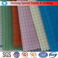 Wholesale china factory polyester pink plaid taffeta fabric