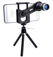 8X universal mobile phone zoom Lenses for iPhone 4 4S 5 5C 5S 6 Plus Samsung Galaxy S3 S5 Note 4