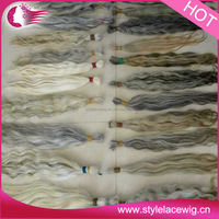 hot selling products virgin indian grey hair naturally curly wholesale