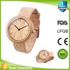 new trend water resistant FSC approval cork wood band wood watch