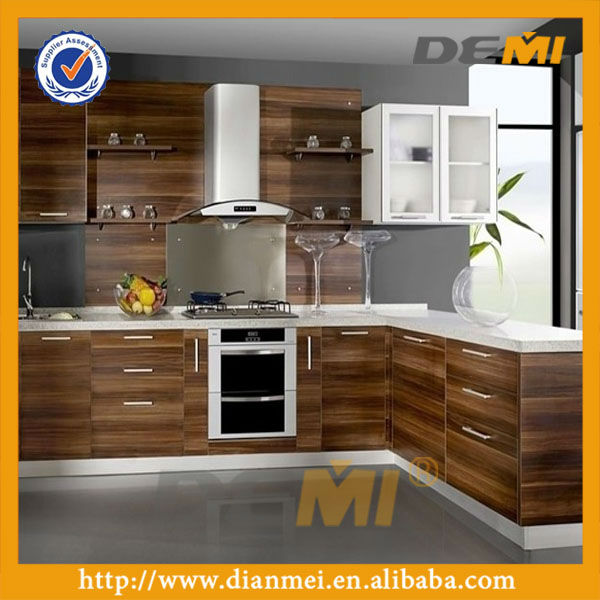 Simple Wood Venner Design Philippines Modular Kitchen