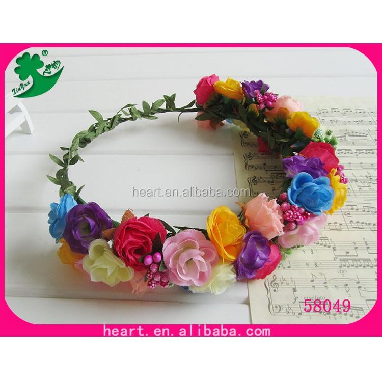 Head Wreaths For Sale Hot Sale Flower Head Wreath