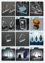 2015 fábrica buen venta de acrílico premios y trofeos / Custom modelos trofeo de acrílico / concesión de acrílico en blanco
