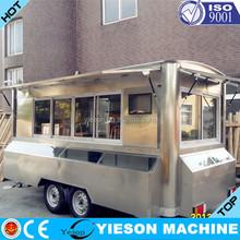 Yieson OEM Food Truck/Mobile Food Carts/Food Van Caravan fast food Vending machine Chinese food truck