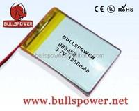 Ge power lipo 7.4v 3.7v 1250mah lithium polymer battery pack