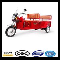 SBDM Open Body Type Passenger Three Wheel Motorcycle Rickshaw Tricycle