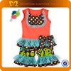Children clothing overseas Baby girls boutique clothing Korean children clothing set
