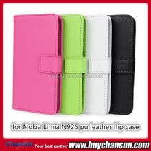 Hot products for Nokia Lumia N925 pu leather flip case