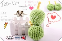 china supplier apple shaped cotton and jute rope pet dog toys
