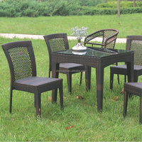 High quality hot sale wicker rattan used restaurant outdoor furniture