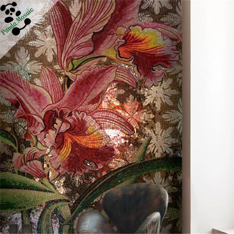 Mb smm15 b diseño de la flor de pintura rosa roja mosaico de ...